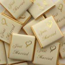 wedding favours just married chocolates uk wedding favours