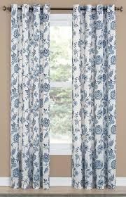 Denim Curtain Colette Print Grommet Curtain Panel Curtain U0026 Bath Outlet