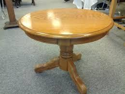 round oak end table round oak pedestal table end table in natural oak a round sgmun club