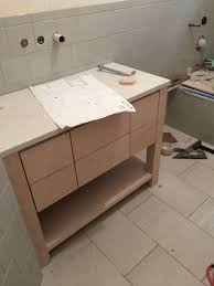Navy Vanity by A Remodel In The Works Come Check Out This Job Progress U2014 Designed