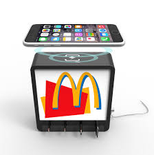 rock cell phone charging station with 46800mah battery