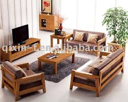 enchanting wooden sofa sets for living room simple living room