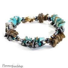 turquoise pearls bracelet images Mother of pearl bracelet florencejewelshop png