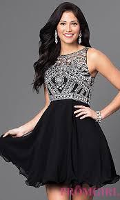klshort black dresses jeweled illusion top homecoming dress promgirl