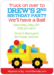 truck birthday party dump truck construction birthday party invitation digital truck