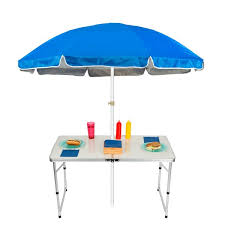 trademark innovations adjustable portable folding camp table 6 5