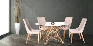 gold dining table set gold dining room table luxury within reach 6 rose gold dining table