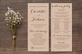 kraft paper wedding programs wedding program template print custom printable wedding program