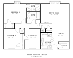 What Is The Floor Plan The Courtyard Three Bedroom Apartment