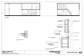 Home Workshop Plans Plan Elevation Section Modern House Sloping Plans Fron Hahnow
