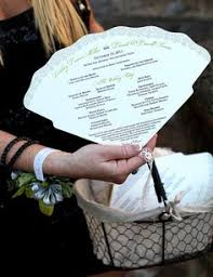 fan shaped wedding programs abanicos y pay pay boda party ideas tags party