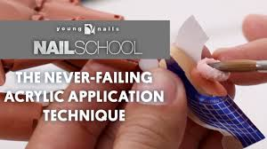 yn nail the never failing acrylic application technique
