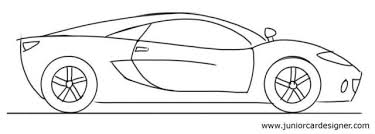 car drawing tutorial for kids sports car side view junior car