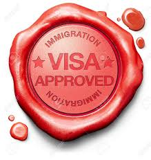 visa approved immigration st for crossing the border passing
