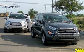 ford ecosport facelift spotted in smokey grey and moondust silver