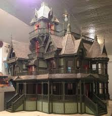 Gothic Victorian House by Dollhouse Carson Mansion 1 12 Scale Scale Doll Houses And