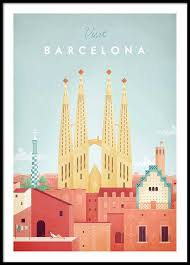 Travel Posters images Barcelona travel poster jpg