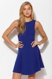 kimchi blue lala knit skater dress in blue lyst