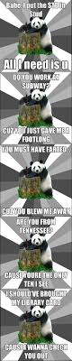 Pick Up Line Panda Meme - bad pick up line panda
