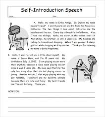 self descriptive words for resume sample self introduction speech examples 6 documents in pdf