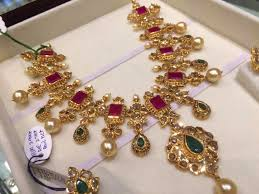 diamond ruby necklace sets images Jewellery designs antique ruby uncut jewellery necklace set jpg