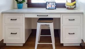 desk for kitchen area