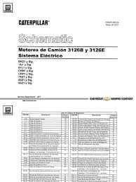 diagrama electrico motores cat 3126