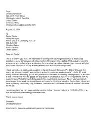 cover letter examples for sales associate email cover letter for