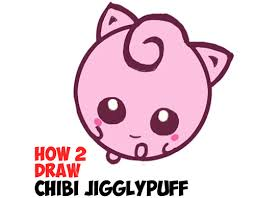 draw cute baby chibi jigglypuff pokemon easy steps