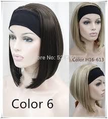 headband wigs synthetic hair wig golden headband wigs medium length free shipping