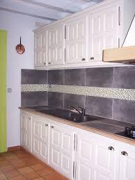cuisine faience cuisine repeinte en couleur gingembre poignées changées et faïence