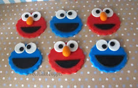elmo cupcakes elmo and cookie cupcakes toppers 12 pcs