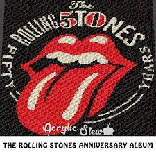 anniversary album the rolling stones anniversary album cover c2c crochet blanket