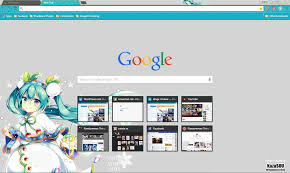 chrome themes cute google chrome theme snow miku randomness thing