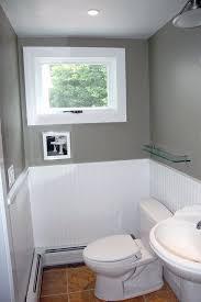 bathroom chair rail ideas extraordinary subway tile chair rail bathroom in home interior
