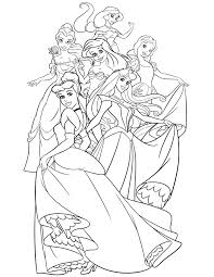 Disney Princess Coloring Book Pages Coloring Page For Kids Kids Disney Coloring Book Pages