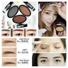 tutorial alis mata untuk wajah bulat shezi eyebrow st alat cetak stempel alis masa kini