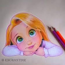 drawn princess color pencil and in color drawn princess color