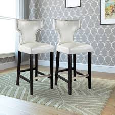 what is the height of bar stools corliving kings bar height barstool with metal studs set of 2