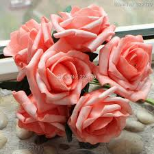 wedding flowers images free free shipping coral artificial flowers 72pcs bridal flowers floral