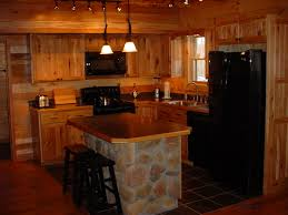 Kitchen Furniture Island Rustic Kitchen With Island U0026 Hickory Cabinets Click To See