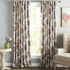 Purple Curtains For Living Room Floral Curtains U0026 Drapes You U0027ll Love Wayfair