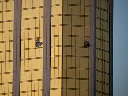 vegas broken windows at shooter s mandalay bay hotel room photos mandalay bay tweeted their condolences to the victims following the attack the hotel owned by mgm resorts had a 10 hour lockdown of the mandalay bay and
