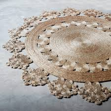 Round Flower Rug by Designer Round Armadillo Co Flower Weave Marigold Rug Hemp