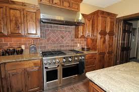 Kitchen  White Kitchen With Red Brick Backsplash Thin Brick - Brick veneer backsplash