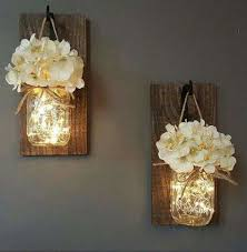 hanging jar sconces made with lights crafty