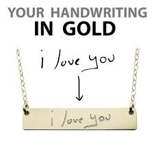custom handwriting necklace custom handwriting necklace gold name plate necklace the