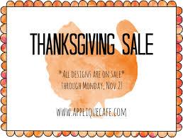 happy thanksgiving applique cafe