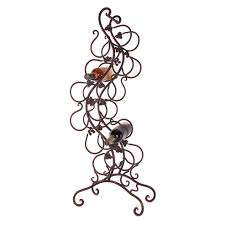 Bakers Rack Console Organizer Durable Wrought Iron Construction With Wrought Iron
