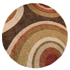 Round Throw Rugs by Orian Rugs Eclipse Brown 7 Ft 10 In Round Area Rug 238624 The